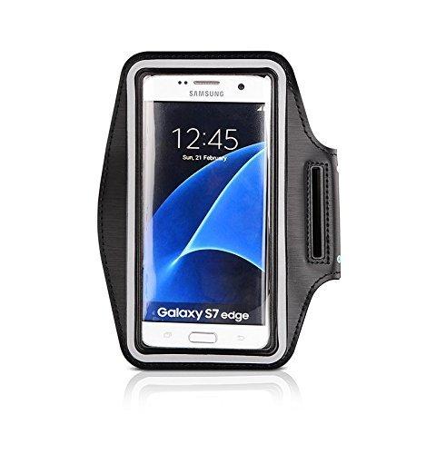CoverKingz Samsung Galaxy S7 Edge Brazalete Deportivo Fitness móvil Correr de Pulsera Unidad de Funda Case de Running Negro Gym Fitness-Brazalete