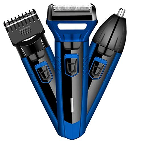 Nicoone Cortadora de pelo eléctrico multiusos cabezales desmontables fáciles de afeitar, 3 en 1, juego eléctrico de cortadoras de pelo