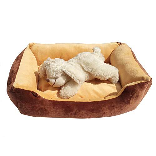 Hundebett Hundekorb wasserdicht im Sockelkissenhaus Komfortabel und weich für Haustiere Korb für Katzen Welpen Kleine und mittelgroße Hunde,Yellow
