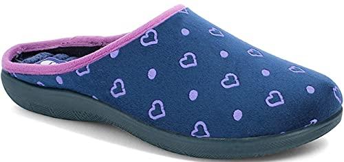 inblu Pantofole Ciabatte Donna MOD. EC-71 Blu(36UE)