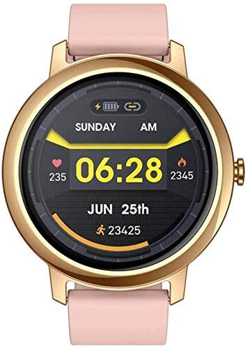 Reloj inteligente con pantalla táctil de 1,3 pulgadas, para hombres y mujeres, IP67, impermeable, monitor de sueño, fitness, deportes, actividad, podómetro, para iOS Android y rosa