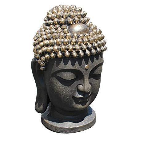 We pay your sales tax Large 16' Tall Buddha Shakyamuni Head Statue 释迦摩尼佛 - Smiling Meditating Buddha Blessing Mercy & Love Peaceful Statue India (G16643) Chinese Feng Shui Idea