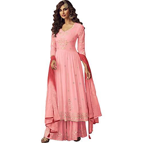 JIVRAJ FASHION Bereit zum Tragen Anarkali Palazzo Anzug Designer Partykleidung Salwar Kameez Plus Size Shalwar Kameez Butterfliegennetz Dupatta...