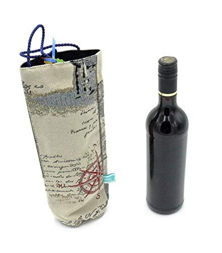 Geschenkverpackung Wein, Tasche für Flaschen, Wein Verpackung, Flaschenhülle im Vintagelook