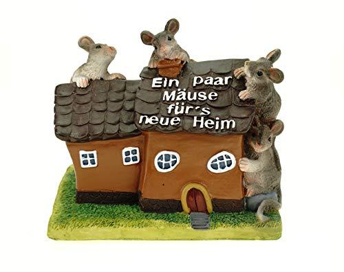 Kremers Schatzkiste Spardose Haus EIN Paar Mäuse für´s Neue Heim Sparschwein Sparbüchse
