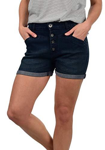 DESIRES Demi Damen Jeans Shorts Kurze Denim Hose, Größe:M, Farbe:Dark Used (9020)