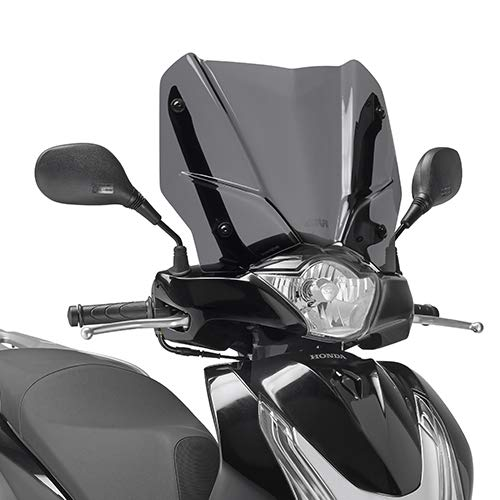 D1128S 126 PARABREZZA VISIERA SCHERMO CUPOLINO PARAVENTO GIVI COMPATIBILE CON HONDA SH 125 150 i ABS 2016 MOTO SCOOTER