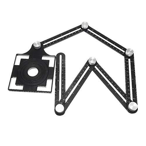 Escuadra Carpintero Guía 25/40/45/55/75 mm Taladro Set Ajustable seis veces herramienta de la regla guía de taladrado a la baldosa cerámica de apertura del agujero localizador universal determinada de