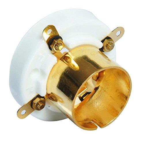 GOZAR 2 Stks 4 Pin Keramische Buis Socket Voor 2A3 300B 274A S4U Basis Vintage Versterker Goud