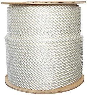 "ATERET 3-Strand Twisted Nylon Plus Rope I Nylon & Polyester Blended Synthetic Rope I 1/4"" x 600 feet I Multipurpose, Light..."