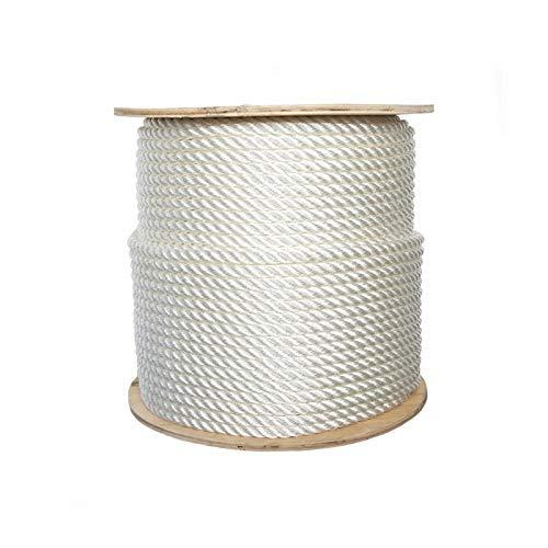 ATERET 3-strängiges gedrehtes Nylon Plus Seil I Nylon & Polyester Mischgewebe synthetisches Seil I 1/4 Zoll x 182,9 m I Mehrzweck-leichte, wetterfeste Schnur für den Außen-/Innenbereich und DIY-Projekte