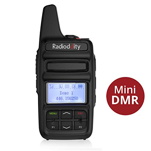 Radioddity GD-73E DMR Funkgerät mit LC-Display Digitales Walkie Talkie dPMR446 Reichweite 5KM wetterfest IP54 DMR Handfunkgerät mit Programmierkabel und 2600mAh Batterie