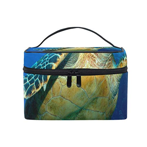Trousse de maquillage Hawksbill-Turtle Cosmetic Bag Portable Large Toiletry Bag for Women/Girls Travel