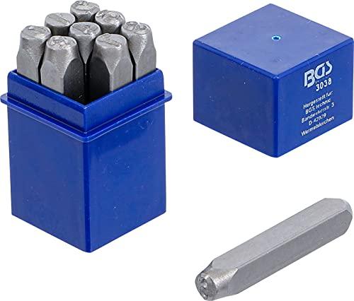 BGS 3038 | Juego punzones de números | 8 mm