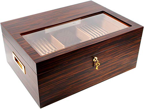 adorini Humidor Vittoria - Deluxe | Zigarren-Schrank mit Cigar Heaven Befeuchtungssystem
