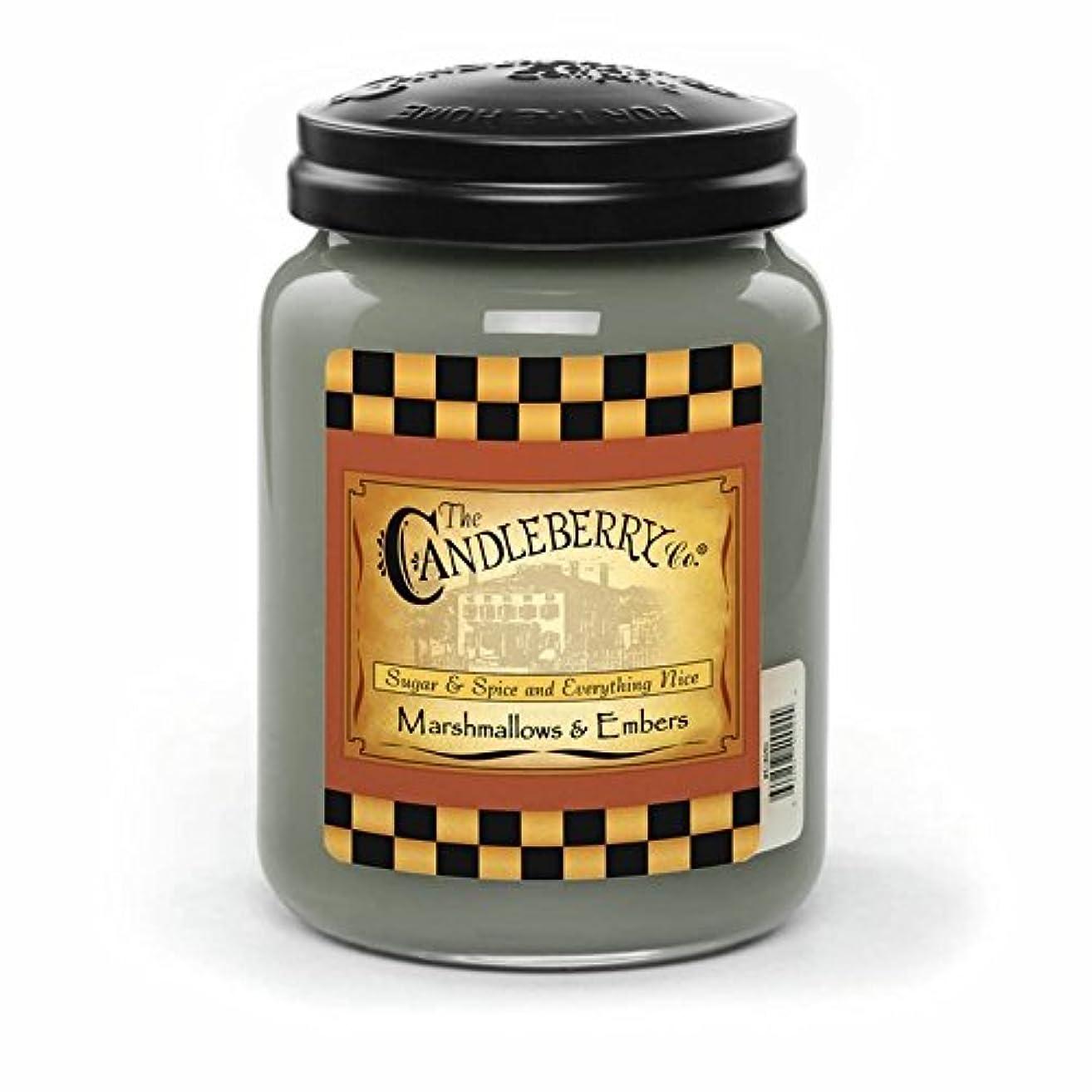 不当勝利したスポーツMarshmallow &残り火26オンスLarge Jar Candleberry Candle