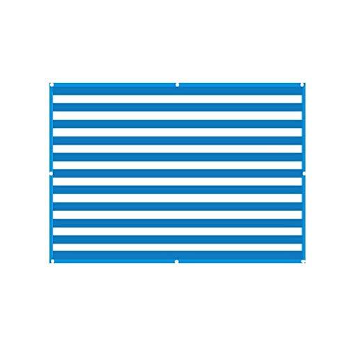 YJXCC Tela Protector Solar Sun Refugio Cubierta de la Cortina al Aire Libre Jardín del rectángulo Bloqueador Solar Pergola con Ojales Patio Toldo (Color : Azul, Size : Gratis)