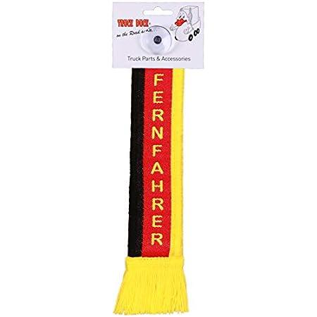Truck Duck Lkw Auto Minischal Fernfahrer Deutschland Trucker Mini Schal Wimpel Flagge Fahne Saugnapf Spiegel Deko Auto