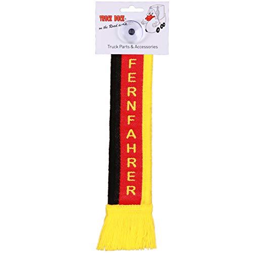TRUCK DUCK® LKW Auto Minischal Fernfahrer Deutschland Trucker Mini Schal Wimpel Flagge Fahne Saugnapf Spiegel Deko