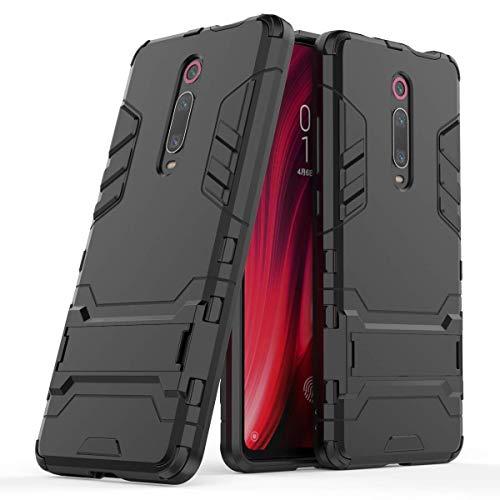 """Max Power Digital Funda para Xiaomi Mi 9T / Xiaomi Mi 9T Pro (6.39"""") con Soporte - Carcasa Híbrida Antigolpes Resistente (Xiaomi Mi 9T, Negro)"""