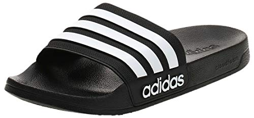 Adidas Adilette Shower, Herren Dusch- & Badeschuhe, Schwarz (Core Black/Footwear White/Core Black 0), 44.5 EU