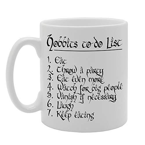 MG325 HOBBIT'S to DO List Novedad regalo impreso té café taza cerámica