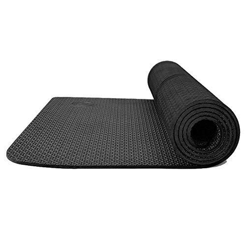 8bayfa Gli Uomini e Le Donne Antiscivolo Widen e insapore Home Fitness Yoga stuoie Sit-up di Formazione Addensato più Principianti Tappetino Tappetino Yoga.1128 (Color : Black, Size : B)