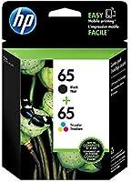 HP 65 Black & Tri-Colour Original Ink, 2 Cartridges (T0A36AN)