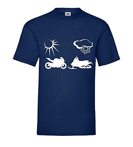 zomer- en Wintermobile mannen T-shirt - shirt84.de