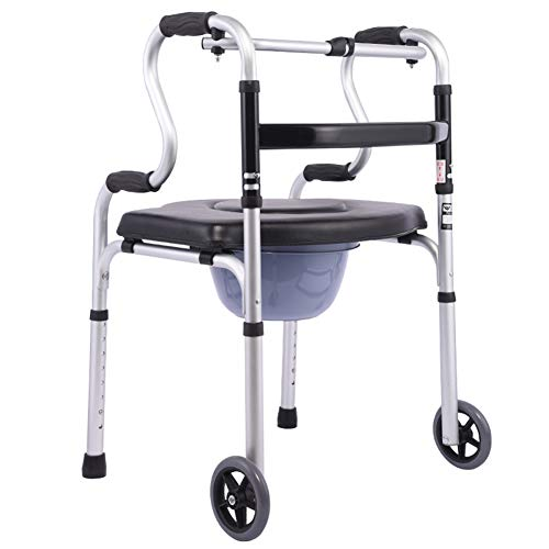 YUWJ Portable Bedside Commode Best Potty Chair,Extra Wide 3 in 1 Toilet Chair,Weight Loss Surgery for Adults,Handicap Toilet Seat with Handles and Wheel