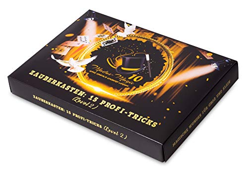 Madus-Magic Premium Zauberkasten 2 für Kinder ab 10 Jahre und Erwachsene | Zaubern Lernen | Zaubertricks | Zauberkoffer
