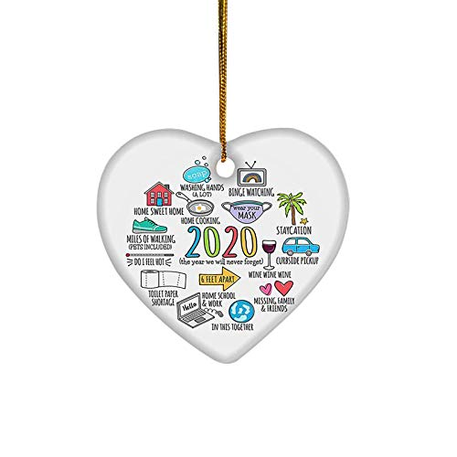 PIKAqiu33 2020 Christmas Paper Wood Christmas Tree Decoration Pendant Crafts with Rope, Novelty Funny, Toys and Hobbies (As Shown)