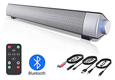 VersionTECH. PC Soundbar,Wired & Wireless Bluetooth BT Computer Speakers with Remote Control,Portable USB Home Theater Stereo Sound Bar for Desktop Laptop TV Cellphone MP4 [RCA, AUX] from VersionTECH.