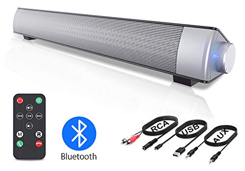 VersionTECH. PC Soundbar,Wired & Wireless Bluetooth BT Computer Speakers...