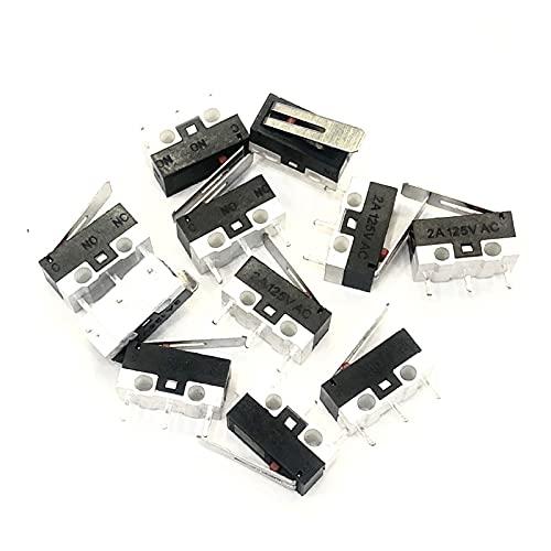 JSJJAWA Interruptores de Palanca 20 PCS/Lot Miniature Micro Limit Switch 1A 2A 3A 125V ACTUADOR del ACTUADOR del Mouse Terminales de PCB Terminales SPDT Pulsador Interruptor (Size : 1A)