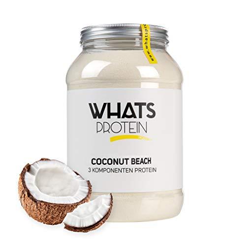 Whats Protein Mehrkomponenten Proteinpulver Cocos, 750g, für Muskelaufbau und Abnehmen, hergestellt in Deutschland