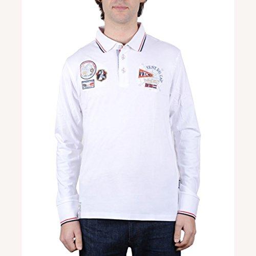 Vent du cap-Polo Homme CAPLANO- Blanc-L