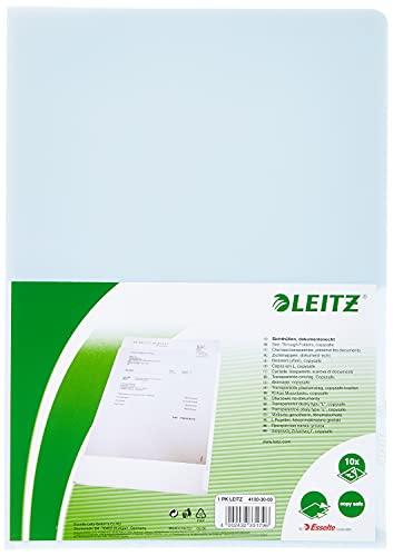 Leitz Premium Sichthüllen-Set, 10 Stück, A4 Format, Farblos mit glänzender Oberfläche, 0,15 mm PVC-Hartfolie, Dokumentenecht, 41003003