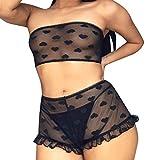Sayla Sexy Damen UnterwäSche Erotische Bekleidung Erotik Schlafanzug Tube Top Strap Nachtwäsche...
