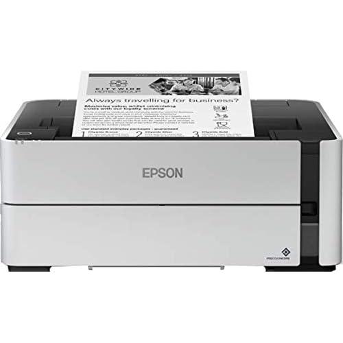 Epson EcoTank ET-M1140, Stampante Bianco/Nero, Solo USB, Solo Stampante, Stampa fino a 11000 Pagine, Velocità di Stampa 20 ppm3, Vassoio da 250 Fogli, Risparmio Energetico, Flaconi Inchiostro Inclusi