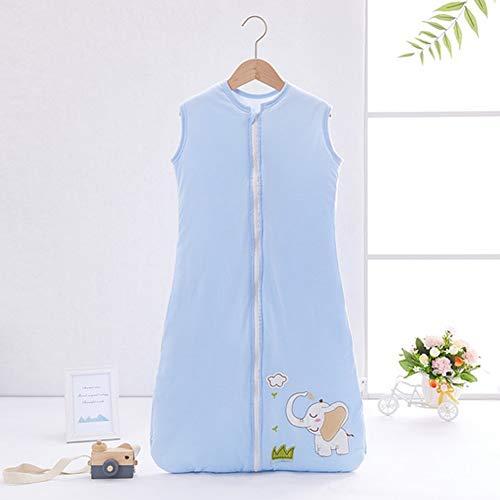 YZNlife Frühlingschlafsack Baby Schlafsack Kleine Kinder Schlafanzug ohne Ärmel für Frühling und Herbst 100% Baumwolle,Elefant,130