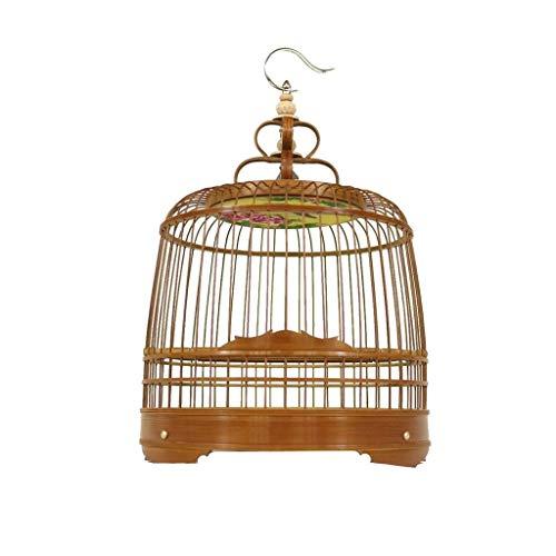 KGDC Gabbia Voliera per Uccelli Leggero Uccello Carrier, Uccello Nutrire Cage - Traspirante Uccello Carrier Parrot Retro Uccelli Gabbia di Viaggio for i Piccoli Uccelli Uccelli Gabbie