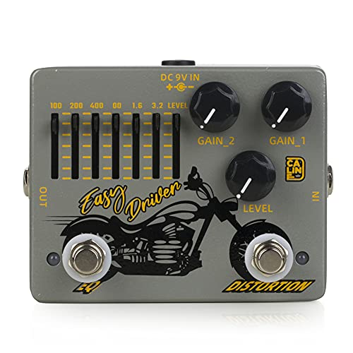 Caline DCP-04 EASYDRIVER Distortion EQ Effect Pedal Dual Guitar Pedal
