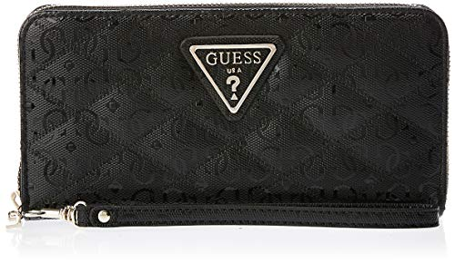 Guess ASTRID SLG LARGE ZIP AROUND Cartera/Monedero femmes Negro - única - Cartera
