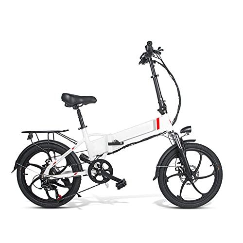 """FBKPHSS Elektrisches Fahrrad, 26"""" 48V10.4AH 350W Zusammenklappbar E-Bike mit Abnehmbarer Lithium Zum Radfahren im Freien Mountainbikes,Weiß"""