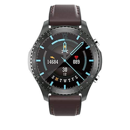 Smartwatch Uomo Orologio Sportivo Android Smart Watch con Chiamata Bluetooth, Monitor Della Frequenza Cardiaca Della Pressione Sanguigna Fitness Tracker Watch per Musica, Impermeabile IP67