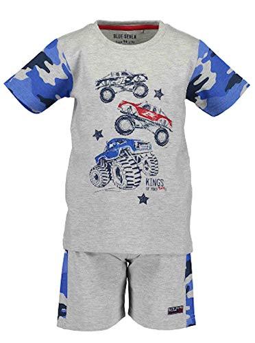 Blue Seven Monster Cars Shorty Set Sommerset Auto Schlafanzug kurz (92, Grau)