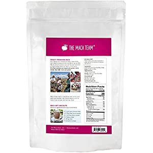 The Maca Team Raw Red Maca Powder, Fair-Trade, GMO-Free Maca from Peru, 1 Pound, 50 Servings