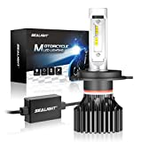 SEALIGHT H4 9003 HB2 LED Motorcycle Headlight Bulb, High/Low Beam, 6000K Xenon White
