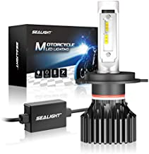 SEALIGHT H4 9003 HB2 LED Motorcycle Headlight Bulb, High/Low Beam, 6000K Xenon White